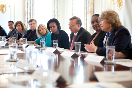 The First Lady and Dr. Jill Biden Discuss Military Families